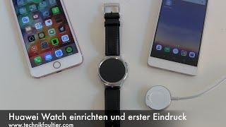 getlinkyoutube.com-Huawei Watch einrichten und erster Eindruck