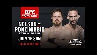 UFC Fight Night 113 Nelson vs Ponzinibbio Bro Picks