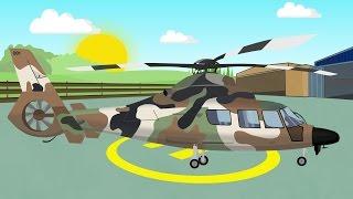 getlinkyoutube.com-Military Helicopter | Animation for children | Helikopter Wojskowy | Bajki Konstrukcje i inne