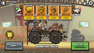 getlinkyoutube.com-Survivor BUNDLE Monster Truck # New Update # Hill Climb Racing 2 # H A C K # Unlimite Coins and Gems