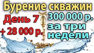 getlinkyoutube.com-Бурение Скважины На Воду. День 7. +28000 рублей прибыли. Бурение Скважины.