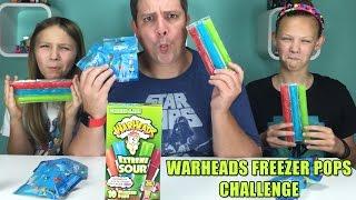 getlinkyoutube.com-Warheads Freezer Pops Challenge   Finding Dory Blind Bags