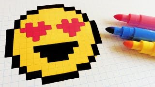 getlinkyoutube.com-Handmade Pixel Art - How To Draw a Emoji #pixelart