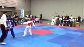 getlinkyoutube.com-Taekwondo Tournament 2013 -Nick's first fight