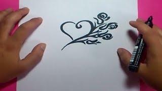 getlinkyoutube.com-Como dibujar un corazon paso a paso 5 | How to draw a heart 5