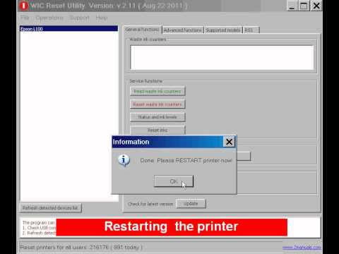 Reset Epson Printers FREE Download Waste Ink Reset Program  MP3 Gratis