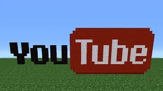 Minecraft Tutorial: How To Make The YouTube Logo