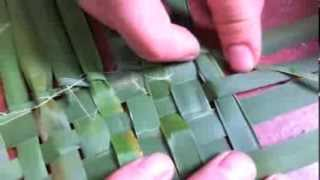 getlinkyoutube.com-Primitive Basket Weaving