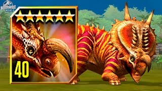 getlinkyoutube.com-EINIOSAURUS MAX LEVEL 40! - Jurassic World The Game - *TOURNAMENT DINO* HD