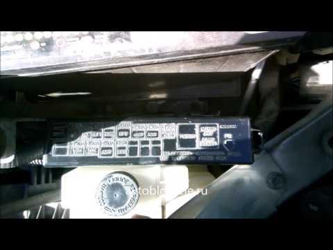 Где предохранитель мотора печки в Nissan Ноут