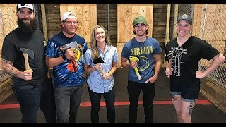 GCOE: The Crew goes Axe Throwing at Lumberjaxe Charlotte