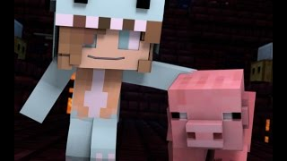 "getlinkyoutube.com-Minecraft Song and Minecraft Animation ""Gimme Back My Pig"" Psycho Girls Little Sister Minecraft Song"