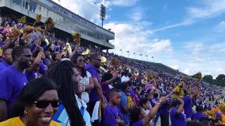 getlinkyoutube.com-Alcorn blows on SU as they enter the stadium 2014