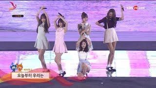 getlinkyoutube.com-161007 GFriend performing under rain