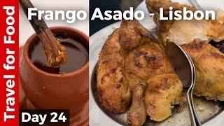 Flying on TAP Portugal and Roast Chicken (Frango Assado) in Lisbon!