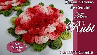 getlinkyoutube.com-Passo a Passo Flor de Crochê Rubi por JNY Crochê