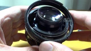 getlinkyoutube.com-Nikon NIKKOR 50mm 1:1.4 Cleaningしてみたよ