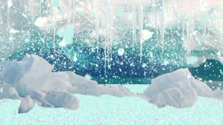 neve caindo reagindo ao som