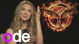 getlinkyoutube.com-The Hunger Games' Natalie Dormer on shaving her head, joking with Jennifer and hanging out with Liam