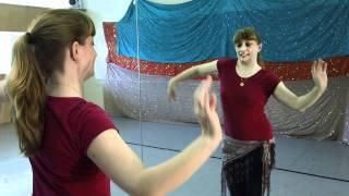 getlinkyoutube.com-Beginning Belly Dancing Snake Arms بداية البطن، الرقص الأسلحة الأفعى
