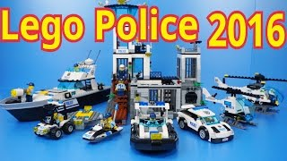 getlinkyoutube.com-Lego Police 2016 : 60126 - 60131 (All) Time Lapse Stopmotion Build