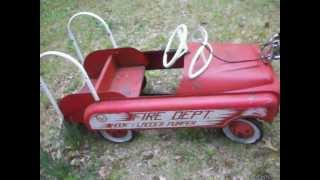 getlinkyoutube.com-1950s AMF Fire Truck Pedal Car For Sale!