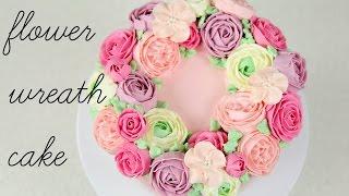 getlinkyoutube.com-CAKE TREND ~ Buttercream Flower Wreath Tutorial - CAKE STYLE