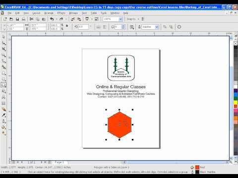Learn CorelDRAW GRAPHICS SUITE X4 & 9 in URDU - IACA Lesson 10