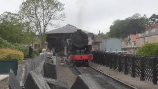 getlinkyoutube.com-NYMR - 6046 2 6 0 USATC Class S160 at Pickering Station