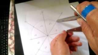 Dividir um circulo ou flange em 4, 8 ...