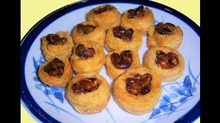 getlinkyoutube.com-Bird Nest (kataifi pastry) with Nuts by Seba Nagy - كنافة عش البلبل بالمكسرات لصبا محمود ناجي