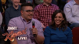 Behind the Scenes with Jimmy Kimmel and Audience – (Fence Salesman)