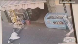 Italian mafia killing video: murder caught on video. width=
