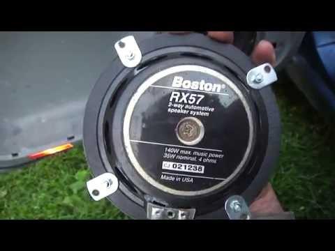 Замена передних динамиков Boston RX57 на Пежо 806
