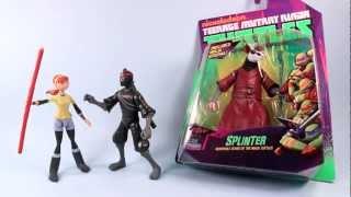 getlinkyoutube.com-Nickelodeon Teenage Mutant Ninja Turtles April Splinter Foot Soldier Toy Review