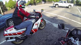 getlinkyoutube.com-1984 RZ500, 1988 TZR250- Two Stroke ride