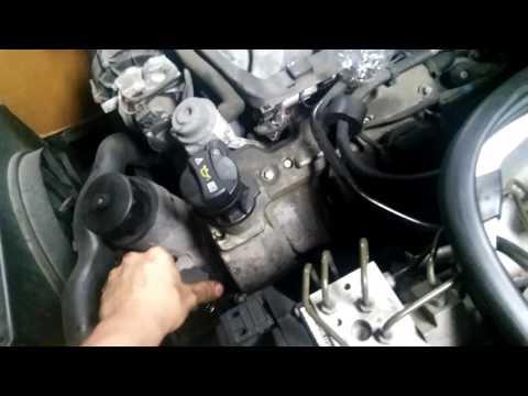 Power steering fluid flush. Замена жидкости гидроусилителя Mercedes W210