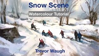 getlinkyoutube.com-Snow scene Watercolour Tutorial.m4v