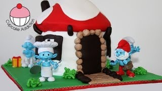 getlinkyoutube.com-Smurf Cake! Make a Smurfs 2 Smurf Village Cake - A Cupcake Addiction How To Tutorial