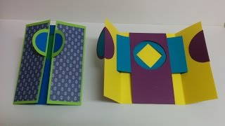 getlinkyoutube.com-Art and Craft: How to make Window Shutter Card / Magic card