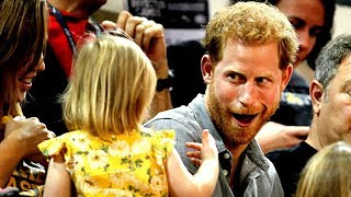 Prince Harry's popcorn swiped by toddler width=