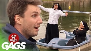 Nun Falls in the Pond
