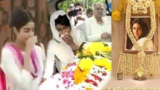 Sridevi's PRAYER MEET At Chennai House Full Video HD  Jhanvi Kapoor,Khushi Kapoor & Boney Kapoor