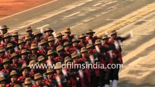 getlinkyoutube.com-Assam Rifles march at India's Republic Day parade, 2016