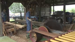 getlinkyoutube.com-TractionAction:  Reeves 13HP on 1903 Port Huron Sawmill at Lathrop Missouri 2009