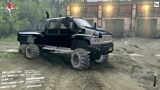 getlinkyoutube.com-SpinTires (MODS) GMC C4500 6x6 - Testing Different Tires (FULLGAME)
