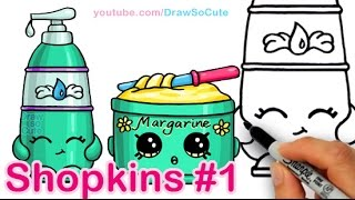 getlinkyoutube.com-How to Draw Shopkins La'Lotion and Margarina Cute and Easy step by step