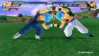 getlinkyoutube.com-Gogeta & Vegeto SSJGSSJ Fusion Dance VS Broly SSJ4 & Syn Shenron (DBZ Tenkaichi 3 mod)
