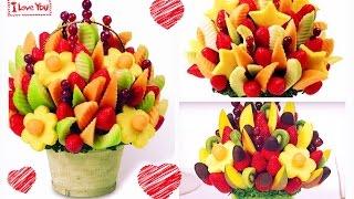getlinkyoutube.com-DIY: Arreglo de frutas con CHOCOLATE! Edible Arrangements