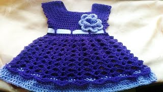 getlinkyoutube.com-Vestiditos de bebe Tejidos en crochet o Ganchillo ( ideas y diseños )